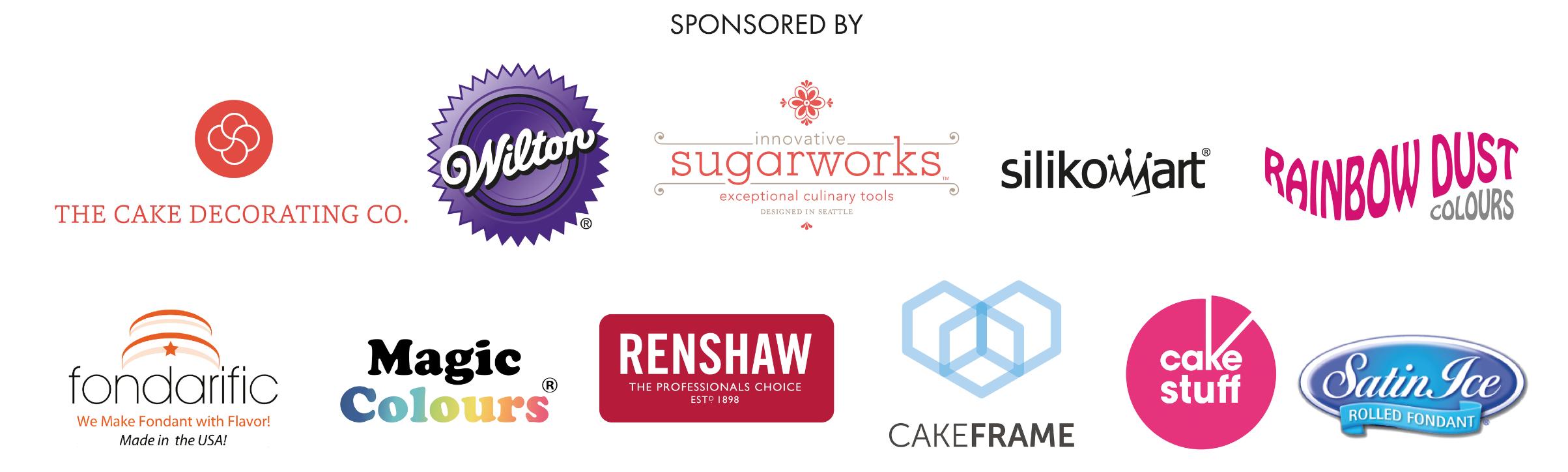 Cake Masters Magazine Awards Sponsors 2016