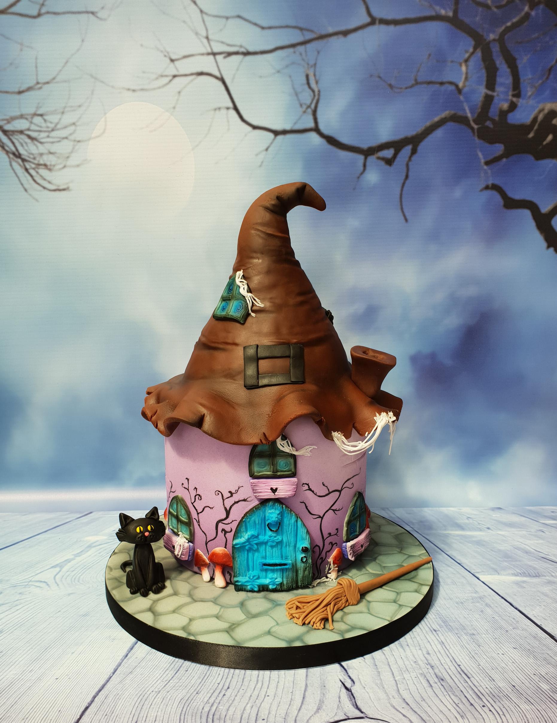 Dark Fairy House Cake