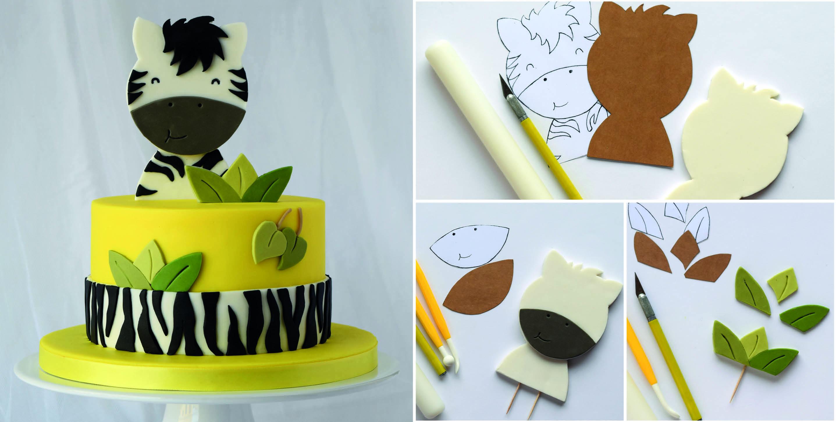 Happy Zebra Cake Topper Tutorial Cake Masters Magazine